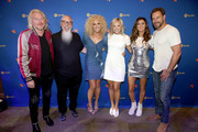 Phillip Sweet, Global Head of Country Music at Spotify, John Marks, Kimberly Schlapman, Head of Artist & Label Marketing-Nashville at Spotify, Brittany Schaffer, Karen Fairchild, and Jimi Westbrook visit the Spotify House during CMA Fest at Ole Red on June 06, 2019 in Nashville, Tennessee.