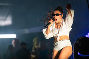Charli xcx at St Jerome's Laneway Festival on February 08, 2020 in Melbourne, Australia.