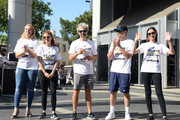 Elisabeth Rohm, JoAnna Garcia Swisher, Kyle Howard, Dave Annable and Odette Annable attend St.Jude Walk/Run Hosted By Lucy Hale at Paramount Studios on September 22, 2018 in Hollywood, California.
