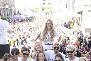 Charlie Annable, Dave Annable, Odette Annable, Elisabeth Rohm, Easton Wooster, T Lopez, JoAnna Garcia Swisher, Sailor Swisher, Emerson Swisher, Fisher Pence, Lucy Hale, Kyle Howard and Shae Carter attend St.Jude Walk/Run Hosted By Lucy Hale at Paramount Studios on September 22, 2018 in Hollywood, California.