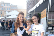 Emerson Swisher, JoAnna Garcia Swisher, Sailor Swisher and Lucy Hale attend St.Jude Walk/Run Hosted By Lucy Hale at Paramount Studios on September 22, 2018 in Hollywood, California.