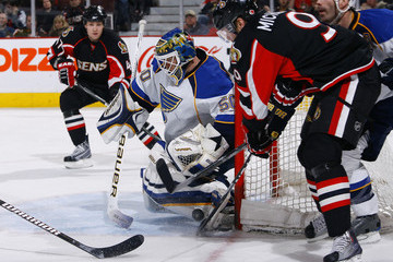 Chris Mason Barret Jackman St. Louis Blues v Ottawa Senators