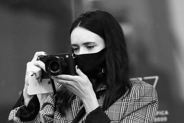 """Stacy Martin """"The World To Come"""" Red Carpet - The 77th Venice Film Festival"""