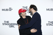 """Pierpaolo Piccioli (L) and Luca Guadagnino attend the launch of Luca Guadagnino's """"The Staggering Girl"""", streaming worldwide on MUBI from February 15, 2020 at Relais Christine and Christine Cinema Club on January 21, 2020 in Paris, France."""
