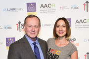"""(L-R) Harold Wimmer, American Lung Association President and Bree Turner, Stand Up To Cancer Ambassador attend  the launch of the Stand Up To Cancer """"Cancer Interception"""" Initiative, announcing four new research teams with the Lustgarten Foundation, LUNGevity Foundation, and the American Lung Association with the American Association for Cancer Research on October 26, 2017 in Philadelphia, Pennsylvania."""