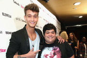 Actors Cody Saintgnue (L) and Harvey Guillen attend Star Magazine Hollywood Rocks 2014 at SupperClub Los Angeles on April 23, 2014 in Los Angeles, California.