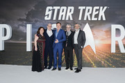 "Executive Producer Kirsten Beyer, Executive Producer Alex Kurtzman, Jason Isaacs, Executive Producer Akiva Goldsman and Executive Producer Michael Chabon attend the ""Star Trek Picard"" UK Premiere at Odeon Luxe Leicester Square on January 15, 2020 in London, England."