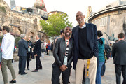 Chris Paul and Kareem Abdul-Jabbar attend the Star Wars: Galaxy's Edge Media Preview at the Disneyland Resort on May 29, 2019 in Anaheim, California.