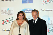 Sandra Garcia-Sanjuan y Miguel Bose attends the 4th annual Starlite Charity Gala on August 10, 2013 in Marbella, Spain.