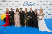 (L-R) Nicole Kimpel, Antonio Banderas, Sandra Garcia San Juan, Juanes, Barbara Kimpel, Jesus Alonso, Cristina del Rey and Anne Igartiburu attend the Starlite Gala on August 11, 2018 in Marbella, Spain.