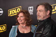 """Mark Hamill (R) and  Marilou York attend the world premiere of """"Solo: A Star Wars Story"""" in Hollywood on May 10, 2018."""