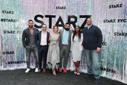(L-R) Ricky Whittle, Omid Abtahi, Director Salli Richardson-Whitfield, Mousa Kraish, Yetide Badaki and Executive Producer/Writer Rodney Barnes attend Starz FYC 2019 — Where Creativity, Culture and Conversations Collide on June 02, 2019 at Westfield Century City in Century City, California.