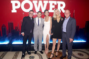 """(L-R) Mark Canton, Jerry Ferrara, Breanne Racano, Tina Trahan and Chris Albrecht attend the Starz """"Power"""" The Fifth Season NYC Red Carpet Premiere Event & After Party on June 28, 2018 in New York City."""