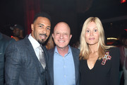 """Omari Hardwick, STARZ CEO Chris Albrecht, and Tina Trahan  attend the Starz """"Power"""" The Fifth Season NYC Red Carpet Premiere Event & After Party on June 28, 2018 in New York City."""
