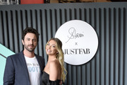 (L-R) Beau Clark and Stassi Schroeder pose as she presents: Outfit Of The Day Collection exclusively on JustFab, on #NationalOOTDDay at Norah on June 25, 2019 in West Hollywood, California.