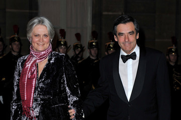 Penelope Fillon State Dinner At Elysee Palace Honouring President Dmitry Medvedev