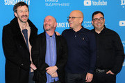 """Chris O'Dowd, Nick Hornby, Jamie Laurenson, and Hakan Kousetta attends """"State Of The Union"""" Red Carpet at The Ray on January 28, 2019 in Park City, Utah."""
