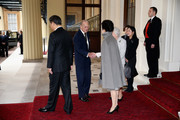 Queen Elizabeth II and Prince Philip, Duke of Edinburgh bid farewell to President of the Peoples Republic of China, Mr Xi Jinping and his wife, Madame Peng Liyuan at Buckingham Palace on October 22, 2015 in London, England. The President of the Peoples Republic of China, Mr Xi Jinping and his wife, Madame Peng Liyuan, end a State Visit to the United Kingdom as guests of The Queen.  They stayed at Buckingham Palace and undertook engagements in London and Manchester. The last state visit paid by a Chinese President to the UK was Hu Jintao in 2005.
