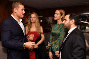 (L-R) Tom Davis, Hannah Ferguson, Petra Nemcova and Nick Andreottola attend Status Luxury Group presents The Art of Giving at Domenico Vacca on December 19, 2017 in New York City.