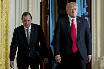 Stefan Lofven President Trump Holds Joint News Conference With Swedish Prime Minister Stefan Lofven At The White House