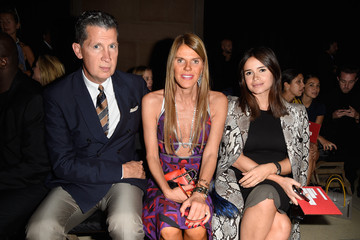 Stefano Tonchi Front Row at Miu Miu