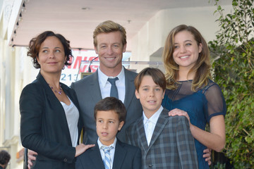 Stella Baker Simon Baker Honored On The Hollywood Walk Of Fame