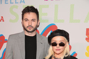 Matthew Rutler and Christina Aguilera attend Stella McCartney's Autumn 2018 Collection Launch on January 16, 2018 in Los Angeles, California.