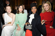 (L-R) Karen Elson, Alexa Chung, Janelle Monae, and Karlie Kloss attend the Stella McCartney show as part of the Paris Fashion Week Womenswear Fall/Winter 2019/2020  on March 04, 2019 in Paris, France.