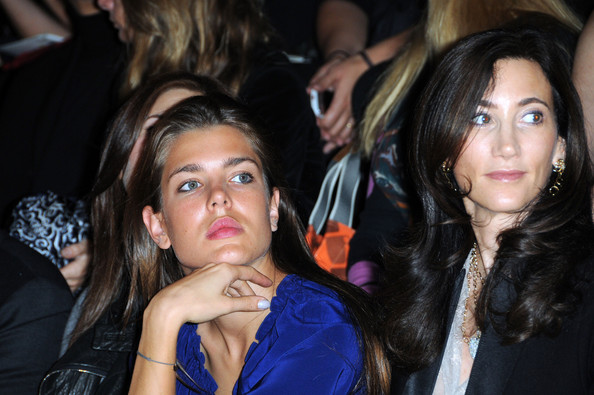 Charlotte Casiraghi Charlotte Casiraghi (L) and Nancy Shevell attend the Stella McCartney Pret a Porter show as part of the Paris Womenswear Fashion Week Spring/Summer 2010 at Palais De Tokyo on October 5, 2009 in Paris, France.