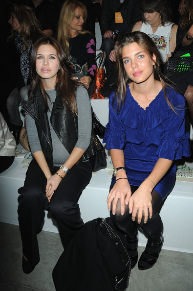 Charlotte Casiraghi Dasha Zhukova (L) and Charlotte Casiraghi attends the Stella McCartney Pret a Porter show as part of the Paris Womenswear Fashion Week Spring/Summer 2010 at Palais De Tokyo on October 5, 2009 in Paris, France.