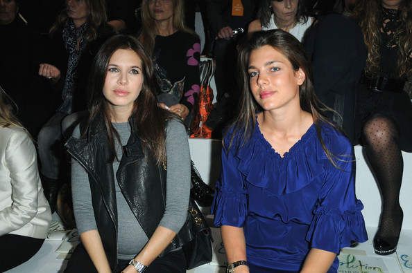 Charlotte Casiraghi Dasha Zhukova (L) and Charlotte Casiraghi attend the Stella McCartney Pret a Porter show as part of the Paris Womenswear Fashion Week Spring/Summer 2010 at Palais De Tokyo on October 5, 2009 in Paris, France.