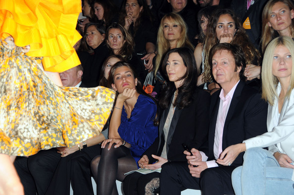 Charlotte Casiraghi (L-R) Charlotte Casiraghi, Nancy Shevell, Paul McCartney and Gwyneth Paltrow attend the Stella McCartney Pret a Porter show as part of the Paris Womenswear Fashion Week Spring/Summer 2010 at Palais De Tokyo on October 5, 2009 in Paris, France.