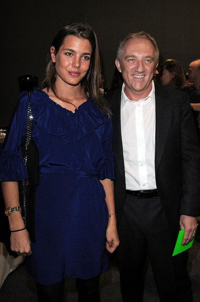 Charlotte Casiraghi Charlotte Casiraghi (L) and Francois-Henri Pinault attend the Stella McCartney Pret a Porter show as part of the Paris Womenswear Fashion Week Spring/Summer 2010 at Palais De Tokyo on October 5, 2009 in Paris, France.