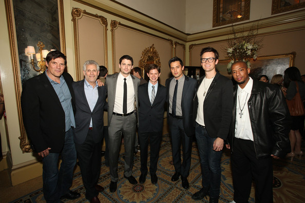 Stephen Colletti (L-R) Actors Kristoffer Polaha, President of the CW Mark Pedowitz, James Lafferty, Lee Norris, Stephen Colletti, Tyler Hilton and Antwon Tanner attend the 'One Tree Hill' Final Season cocktail reception during the CW portion of the 2012 Television Critics Association Press Tour at The Langham Huntington Hotel and Spa on January 12, 2012 in Pasadena, California.