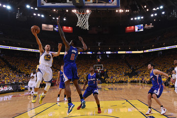 Stephen Curry DeAndre Jordan Los Angeles Clippers v Golden State Warriors - Game Four