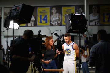 Stephen Curry Golden State Warriors Media Day
