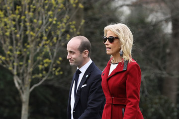 Stephen Miller President Trump Departs The White House For New Hampshire