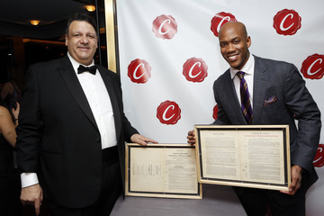 Stephon Marbury Reception Celebrating Collectors Cafe The Unveiling of The Original, Long-Lost Jackie Robinson Baseball Contracts