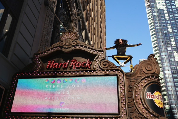 Steve Aoki Appears At Hard Rock Cafe New York