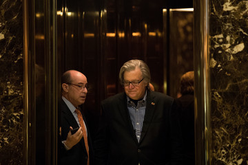 Steve Bannon President-Elect Donald Trump Holds Meetings At His Trump Tower Residence In New York