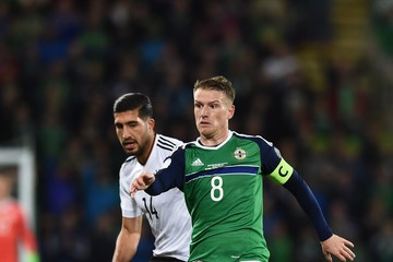 Steve Davis Northern Ireland v Germany - FIFA 2018 World Cup Qualifier