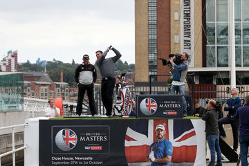 Steve Harper British Masters Tyne River Stunt With Lee Westwood