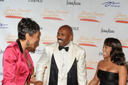Television personality Robin Roberts, host Steve Harvey and Marjorie Harvey attend the New York Gala benefiting The Steve Harvey Foundation at Cipriani, Wall Street on May 3, 2010 in New York City.