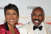 Television personality Robin Roberts and host Steve Harvey attend the New York Gala benefiting The Steve Harvey Foundation at Cipriani, Wall Street on May 3, 2010 in New York City.
