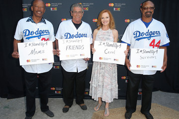 Steve Yeager MasterCard Stands Up To Cancer With The Priceless Table At Dodger Stadium