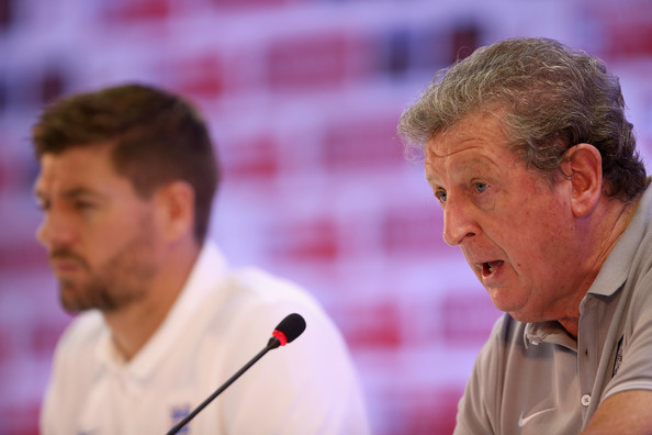 England Media Access - 2014 FIFA World Cup Brazil [event,roy hodgson,steven gerrard,capatin,media access,media,brazil,rio de janeiro,england,2014 fifa world cup,press conference]