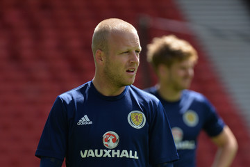 Steven Naismith Scotland Training Session and Press Conference