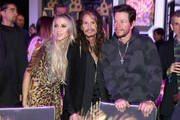 Aimee Preston, Steven Tyler and Mark Wahlberg attend Steven Tyler?s Second Annual GRAMMY Awards Viewing Party to benefit Janie?s Fund presented by Live Nation at Raleigh Studios on February 10, 2019 in Los Angeles, California. at Raleigh Studios on February 10, 2019 in Los Angeles, California.