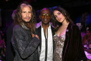 (L-R) Steven Tyler, Randy Jackson, and Chelsea Tyler at Steven Tyler and Live Nation presents Inaugural Janie's Fund Gala & GRAMMY Viewing Party at Red Studios on January 28, 2018 in Los Angeles, California.