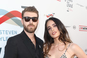 Jon Foster (L) and Chelsea Tyler at Steven Tyler and Live Nation presents Inaugural Janie's Fund Gala & GRAMMY Viewing Party at Red Studios on January 28, 2018 in Los Angeles, California.